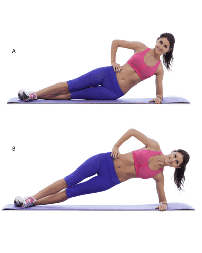 side plank dips Exercise